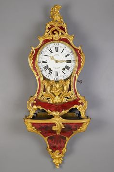 Louis XV Tortoiseshell Cartel Clock. Period ca. 1760.