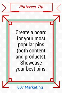 #PinterestTipoftheDay Create a board for your best-performing pins (both content and products). Showcase your most popular pins on Pinterest, the pins that receive most repins and the images that are most pinned from your website. Example: Check out Nordstrom's board: Top Pins: Nordstrom.com Have a pinteresting question? Speak your mind in the comments!