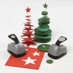 Juletræ af udstanset mosgummi på stang med fod