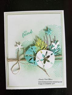 Octopus Card, Sea Texture, Nautical Cards, Beach Cards, Stampin Up Catalog, Friends Are Like, Friendship Cards, Stamping Up Cards, Paper Pumpkin