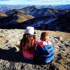 A brother-sister bonding moment at 11,000ft. #Snowbird #hiddenpeak #Utah