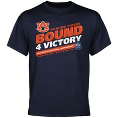 Auburn Tigers 2014 BCS National Championship Game Bound 4 Victory T-Shirt - Navy