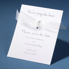 Tie the Knot Save the Date-- well i do LOVE this traditional one! :) (100 for $ 90)