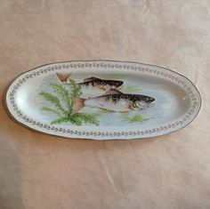 French Vintage Fish Platter Digoin Limoges by AlfiejayneVintage, €80.00