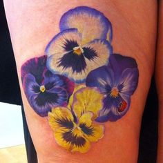 Image result for pansy tattoos