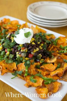 Rosann Parrinello's Sweet Potato Nacho's, Where Women Cook, Winter 2014