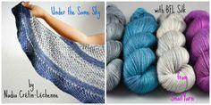 Under the Same Sky by Nadia Crétin-Léchenne with BFL Silk from SnailYarn
