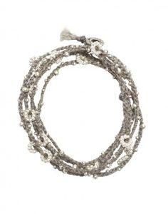 wrap bracelet gray silver {the little market}