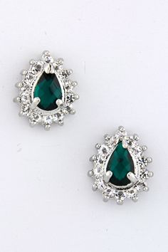 Crystal Emerald Teardrop Earrings | Awesome Selection of Chic Fashion Jewelry | Emma Stine Limited