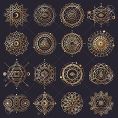 Sacred Geometry Forms with Eye, Moon, Sun. Vector illustration Sacred Geometry Forms with Eye, Moon, Sun. Sacred Geometry Symbols, Geometric Symbols, Sacred Geometry Tattoo, Geometric Logo, Moon Symbols, Fractal Geometry, Geometric Lines, How To Draw Sacred Geometry, Geometric Tattoo Pattern