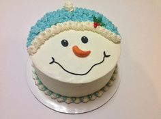 Snowman cake by Craftsy member Naheed