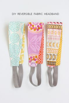 Sewing For Kids Gifts DIY Reversible Headband sewing tutorial Easy Sewing Projects, Sewing Projects For Beginners, Sewing Hacks, Sewing Tutorials, Sewing Crafts, Sewing Tips, Tutorial Sewing, Sewing Basics, Sewing Ideas