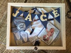 Newborn shadow box ideas