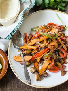 Vegan Sweet Potato Fajitas
