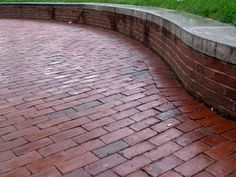 Another Brick Paver Patio! LOVE The Seating Wall!