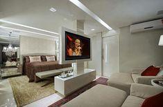 Quartos com TV - veja formas diferentes e modernas de usá-las   dicas!