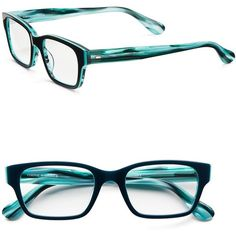 Corinne Mccormack Sydney 51mm Reading Glasses ($68) ❤ liked on Polyvore featuring accessories, eyewear, eyeglasses, glasses, turquoise, rectangular glasses, corinne mccormack, rectangle glasses, rectangle eyeglasses and reading eye glasses