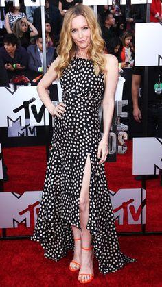 MTV Movie Awards 2014 Red Carpet - Leslie Mann from #InStyle.  Leslie Mann in Juan Carlos Obando.