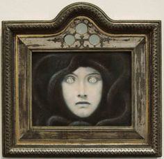 "amare-habeo:  ""  Franz von Stuck (German, 1863-1928)  Head of Medusa, 1892  Pastel on paper, 26.5 x 32.5 cm  """