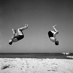 ELBOWS and KNEES......  Beachobatics