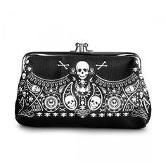 Bandana Skull Coin Bag by Loungefly (Black/White) - InkedShop - 1
