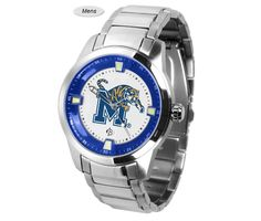 The Titan Steel Memphis Tigers Watch features a quartz accurate movement, stainless steel band and Tigers team logo. Very Stylish. Free Shipping. Excellent quality. Visit SportsFansPlus.com for Details.