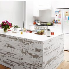 Timeline Wood Skinnies x Wood Wall Paneling Color: White Vinyl Wall Panels, Wood Panel Walls, White Wood Paneling, Paneling Walls, Wall Panelling, Pine Walls, Reclaimed Barn Wood, Wood Accents, Do It Yourself Home