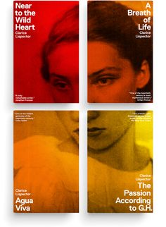 Clarice Lispector series. Series design: Paul Sahre and Erik Carter. Creative direction: Erik Rieselbach. (New Directions, 2011.)