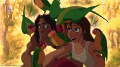 15. Favorite Romantic Moment. When Tarzan takes Jane to see the birds in the jungle canopy.
