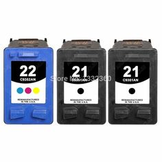 For hp 21 22 Ink Cartridge for HP21 22 Deskjet F4180 F2180 F2280 D1530 D1320 D1311 D1455 F2100 F4100 For hp cartridges 21 and 22 #Affiliate