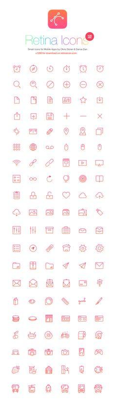 RetinaIcon: 120 Free Icons   GraphicBurger