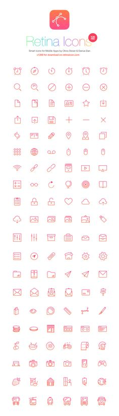 RetinaIcon: 120 Free Icons | GraphicBurger