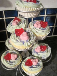 More Percy Pig Cup Cakes Via Lauhelm On Twitter  Percy Pig - Owl percy pig birthday cake