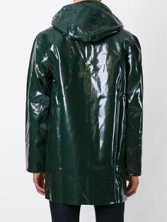 Stutterheim Stockholm Opal Rubber Raincoat in Green for Men