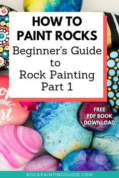 How to Paint Rocks Beginner's Guide Series, you'll discover the joys of rock painting and gain confidence in your artistic ability. Crafts How to Paint Rocks [Beginner's Guide Series] Rock Painting Patterns, Rock Painting Ideas Easy, Rock Painting Designs, Rock Painting Kids, Painting Rocks For Garden, Paint Designs, Pebble Painting, Pebble Art, Stone Painting