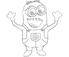 dave despicable me 2 coloring pages