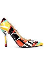 Moschino Printed leather pumps