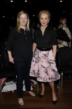 Carolina Herrera Knee Length Skirt - Carolina Herrera's printed flare skirt at the Luxury Business Conference had a chic '50s feel.