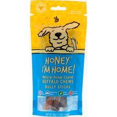 Dog Apparel Honey Im Home Natural Honey Coated Buffalo Chews Bully Sticks 5 Pieces 3 15 Oz 90 G Discontinued It Bully Sticks Friends In Love Natural Honey
