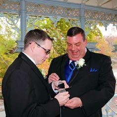Art Of The Ceremony Manhattan New York Gay Couple Opening Chocolates