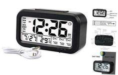 Digital Projection, Clock For Kids, Calendar Time, Radio Alarm Clock, Time Clock, Flip Clock, Digital Alarm Clock, Radios, Night Time