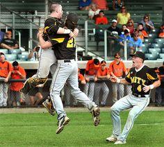 Amity High School beat Shelton High School 2-1 in the SCC baseball championship at Yale Field, New Haven.  Photos by Mara Lavitt