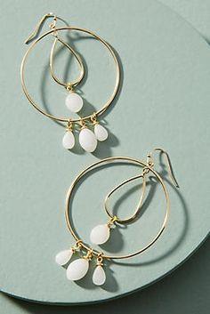 Tumbled Stone Double Hoop Earrings