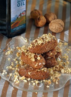 Melomakarona-Nut-and-Honey Christmas Cookies with Olive Oil