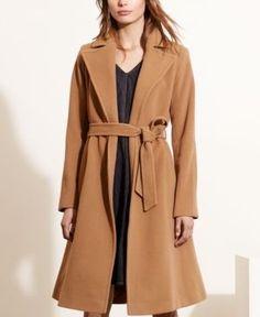 Lauren Ralph Lauren Wool-Cashmere-Blend Wrap Coat - Vicuna 12