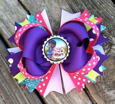 DOC MCSTUFFINS Hair Bow Boutique Style Doc by PolkaDotzBowtique, $9.49