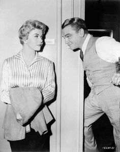 Doris Day and her favorite, James Cagney.  On the set of Love Me Or Leave Me (1955)