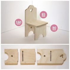 Мебель для кукол. Стол,кровать,4 стула.