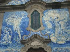 Azulejos da Igreja de Carvalhido. Portugal. handmade tiles can be customized