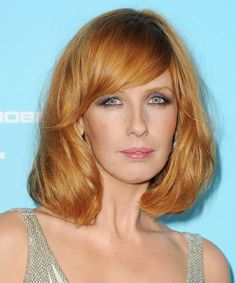 Kelly Reilly Medium Straight Casual Hairstyle with Side Swept Bangs – Ginger Red Hair Color – - Education and lifestyle Medium Bob Hairstyles, Casual Hairstyles, Celebrity Hairstyles, Wig Hairstyles, Straight Hairstyles, Layered Hairstyles, Pixie Haircuts, Kelly Reilly, Red Hair Woman